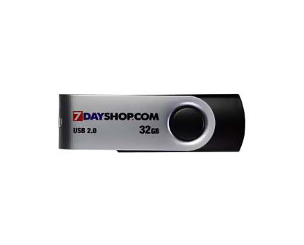 7dayshop 32GB USB Flash Drive with Capless Swivel