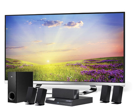 LG 47LM670T 47-inch 3D TV and BH6220S Home Cinema System