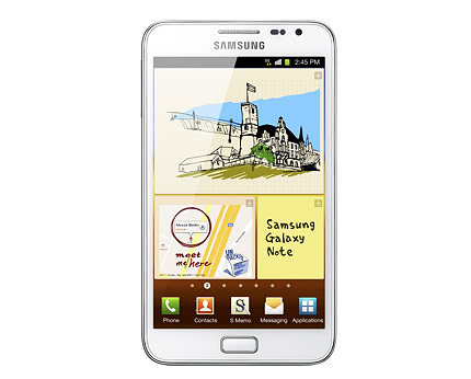 White Samsung Galaxy Note