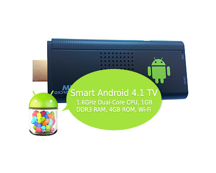 Justop MK809 Android Smart TV Dongle - Dual 1.6GHz, 1GB RAM, 4GB ROM, Wi-Fi